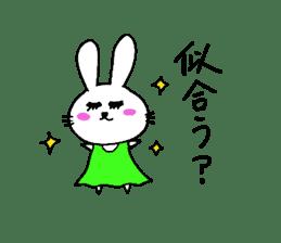 Yuruki-ra rabbit sticker #2074547