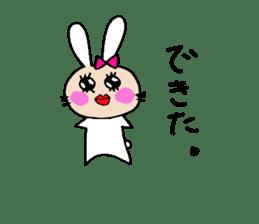 Yuruki-ra rabbit sticker #2074550