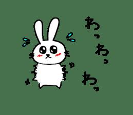 Yuruki-ra rabbit sticker #2074552