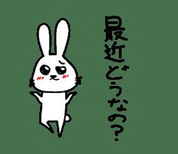 Yuruki-ra rabbit sticker #2074558