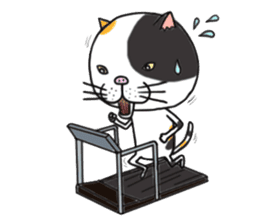 It is very lovely cat stamp. sticker #2077627
