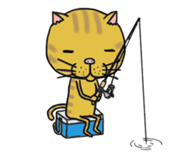 It is very lovely cat stamp. sticker #2077628