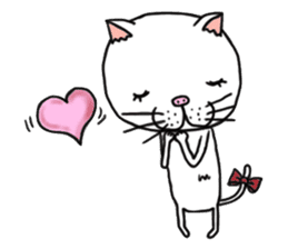 It is very lovely cat stamp. sticker #2077633