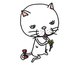 It is very lovely cat stamp. sticker #2077634