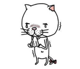 It is very lovely cat stamp. sticker #2077636