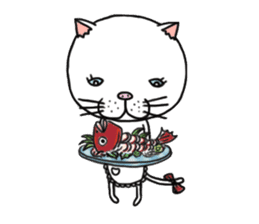 It is very lovely cat stamp. sticker #2077640