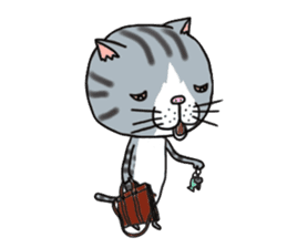 It is very lovely cat stamp. sticker #2077646