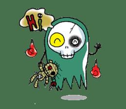 Pee Friendly ghost sticker #2079501