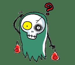 Pee Friendly ghost sticker #2079502