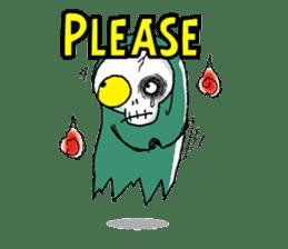 Pee Friendly ghost sticker #2079503