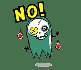 Pee Friendly ghost sticker #2079505