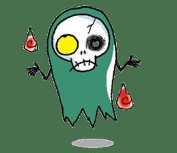 Pee Friendly ghost sticker #2079506