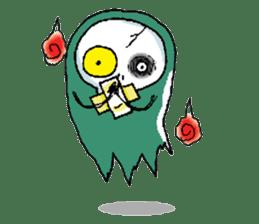 Pee Friendly ghost sticker #2079507