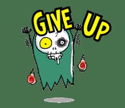 Pee Friendly ghost sticker #2079508
