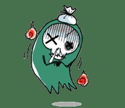 Pee Friendly ghost sticker #2079510