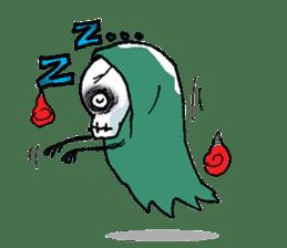 Pee Friendly ghost sticker #2079512