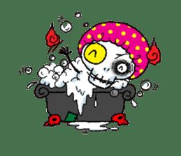 Pee Friendly ghost sticker #2079514