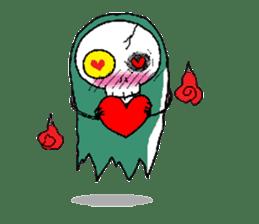 Pee Friendly ghost sticker #2079515