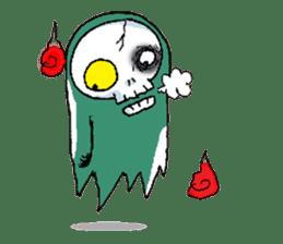 Pee Friendly ghost sticker #2079516