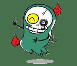Pee Friendly ghost sticker #2079517