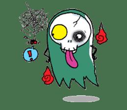 Pee Friendly ghost sticker #2079518