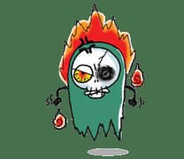 Pee Friendly ghost sticker #2079521