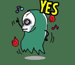 Pee Friendly ghost sticker #2079522