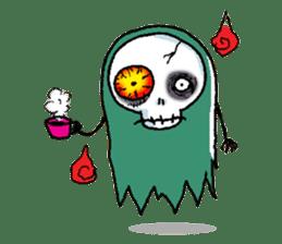 Pee Friendly ghost sticker #2079524