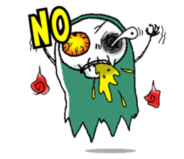 Pee Friendly ghost sticker #2079525