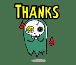 Pee Friendly ghost sticker #2079529