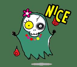 Pee Friendly ghost sticker #2079530