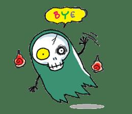 Pee Friendly ghost sticker #2079532