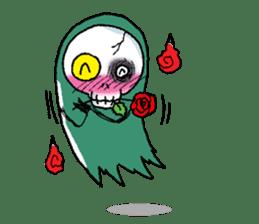 Pee Friendly ghost sticker #2079533