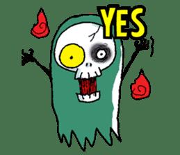 Pee Friendly ghost sticker #2079535