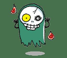 Pee Friendly ghost sticker #2079536