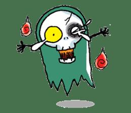 Pee Friendly ghost sticker #2079538
