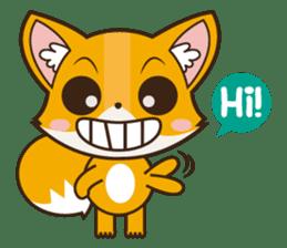 Foxy, cute little fox sticker #2079861