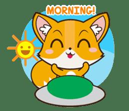 Foxy, cute little fox sticker #2079862