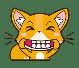 Foxy, cute little fox sticker #2079865