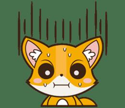 Foxy, cute little fox sticker #2079874