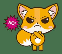 Foxy, cute little fox sticker #2079876