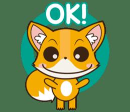 Foxy, cute little fox sticker #2079877