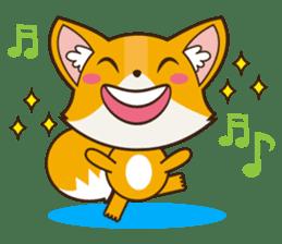 Foxy, cute little fox sticker #2079879