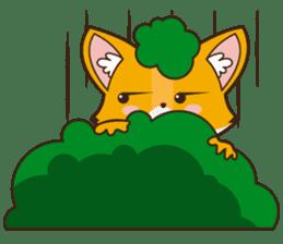 Foxy, cute little fox sticker #2079885