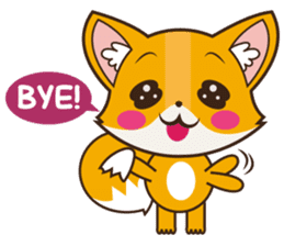 Foxy, cute little fox sticker #2079886