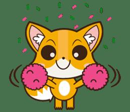 Foxy, cute little fox sticker #2079889