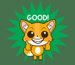 Foxy, cute little fox sticker #2079891
