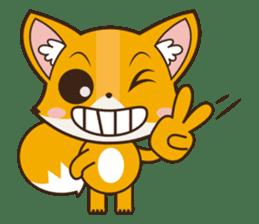 Foxy, cute little fox sticker #2079892