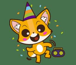 Foxy, cute little fox sticker #2079894