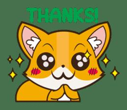 Foxy, cute little fox sticker #2079896